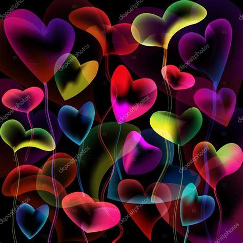 imagenes de corazones abstractos burbujas de corazones colores abstractos fondo archivo