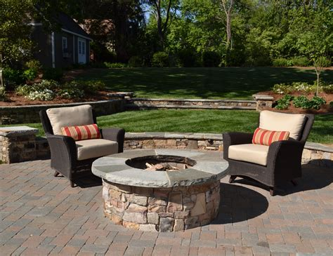 Creating The Outdoor Living Space Tg R Landscape Group Firepit Wood