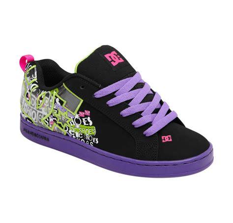 womens dc sneakers dc shoes s court graffik se shoes purple lifestyle