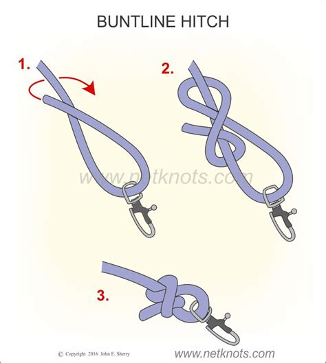 Hitch Knot - buntline hitch how to tie a buntline hitch