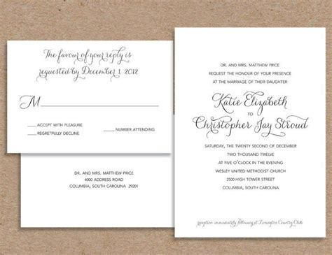 Casual Dress Code Wedding Invitation