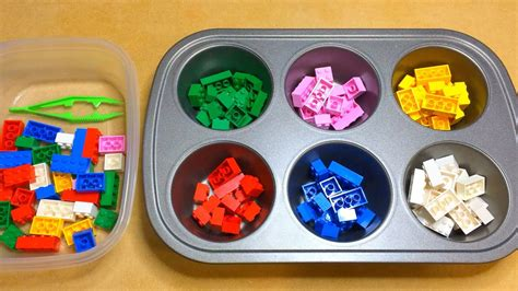 sort colors lego color sorting activity for preschool math and