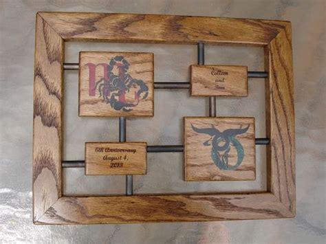 custom anniversary gift wood  iron  awl woodworks