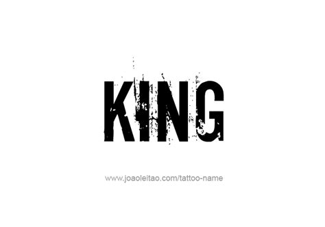design is king king name tattoo designs