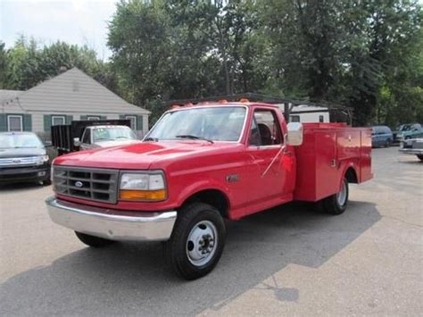 how cars engines work 1995 ford f350 lane departure warning buy used 1995 ford f350 xl reg cab drw 2wd utility truck in farmington michigan united states