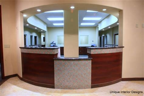 Office Front Desk Dental Office Showcase 2 Unique Interior Designs Dental Office Design