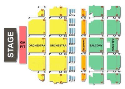 boch center wang theatre seating chart seating charts