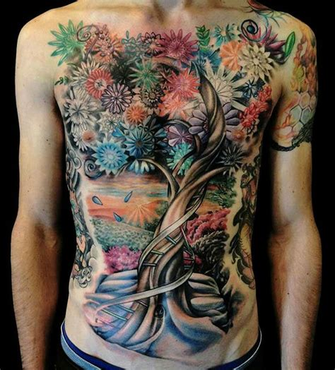 Tattoo Flower Tree | flower tree tattoo ink pinterest