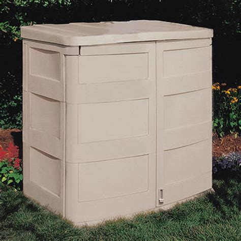suncast 174 horizontal garden shed 138477 patio storage at