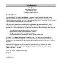 Technical Officer Cover Letter by Project Manager Cover Letter Itubeapp Net