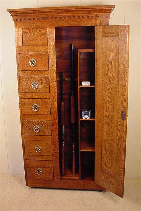 Handmade Gun Cabinet - custom made oak gun cabinet