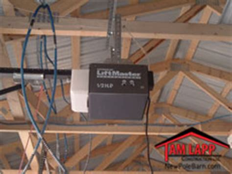 Pole Building Misc Design Options Tam Lapp Construction Llc Barn Door Opener