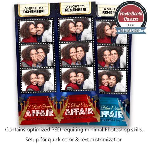 hollywood photo booth layout hollywood red carpet 3 up strips photo booth template