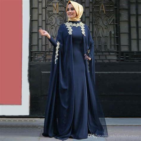 duba muslimi abaya navy blue evening dresses  long