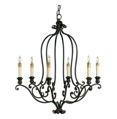 Black Wrought Iron Chandeliers Hourglass Black Wrought Iron 6 Light Chandelier Kathy Kuo Home