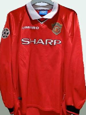 Jersey Manchester United Home 1998 1999 Ucl match worn manchester united shirts collection