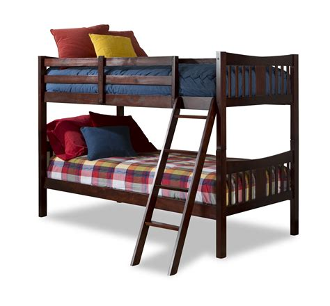 Storkcraft Caribou Bunk Bed Cherry Home Furniture Cherry Bunk Beds
