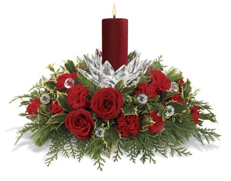 christmas flower centerpieces picture