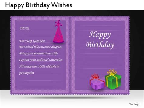 happy birthday invitation powerpoint slides and editable