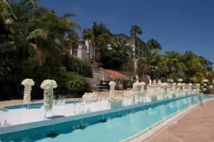 wedding aisle pool ceremony d 233 cor photos quot floating quot poolside aisle inside