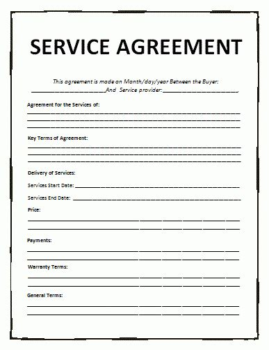 Service Agreement Template Free Word Templates Services Agreement Template