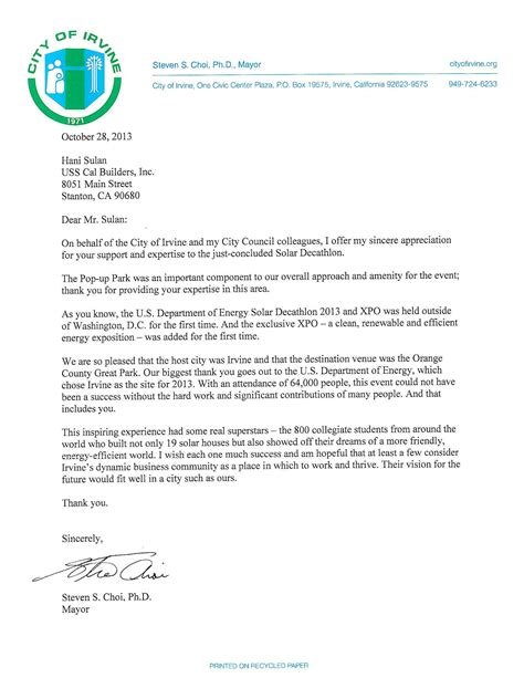 appreciation letter after winning award construction excellence awards winners awards of quality