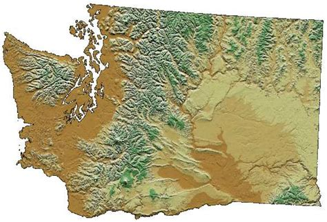 Search Washington State Washington State Digital Elevation Map