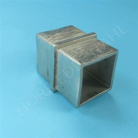 steckfitting verbinder f 252 r vierkantrohr rechteckrohr - Va Geländerteile