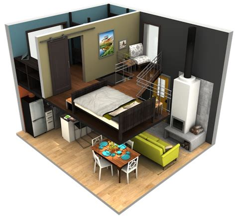 big loft malissa tack s tiny house big loft design in 3d tiny
