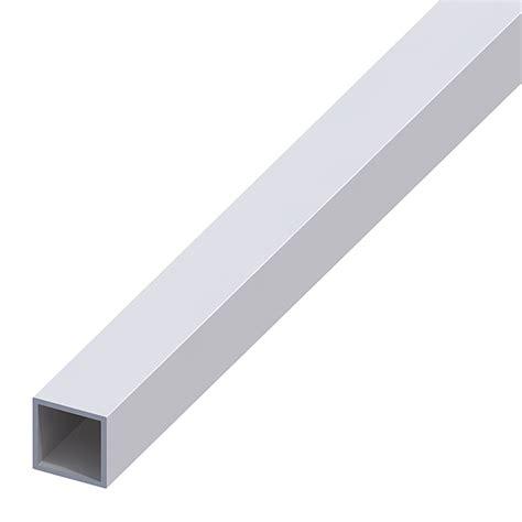 tubos cuadrados de pvc kantoflex tubos cuadrados 1 000 x 20 x 20 mm aluminio