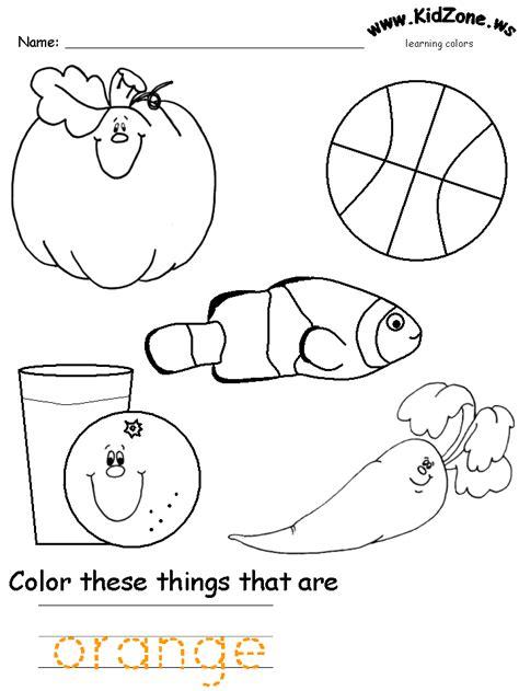 free coloring pages of orange worksheet