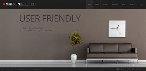 modern interior design furniture wordpress themes