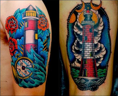 tattoo old school signification tattoo old school traditional nautic ink lighthouses