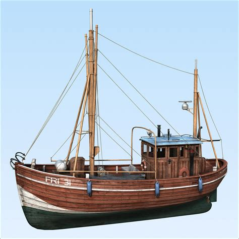 3d boat fishing boat 3d max