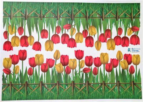 decorar paredes de jardines vinil para decorar paredes jard 237 n tulipanes 299 00 en