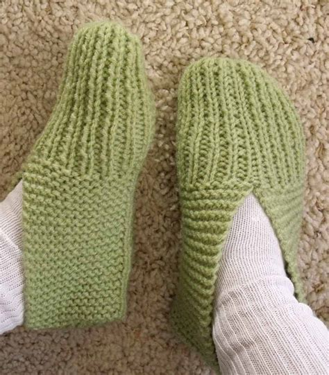 how to knit booties knit slippers for beginners images frompo 1