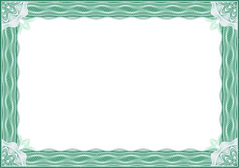 borders for certificates templates free vector certificate border