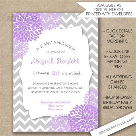 Lavender Baby Shower Invitations by Purple And Silver Baby Shower Invitations Yourweek