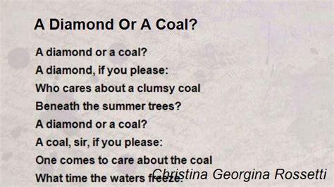 Or A A Or A Coal Poem By Georgina Rossetti