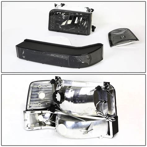 96 f250 led lights 92 96 ford bronco f150 f250 led drl headlights bumper
