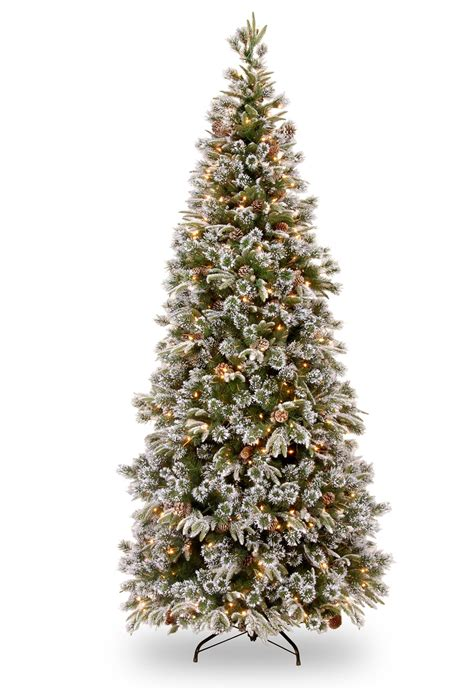 slim trees artificial pre lit 6ft pre lit liberty pine slim decorated feel real
