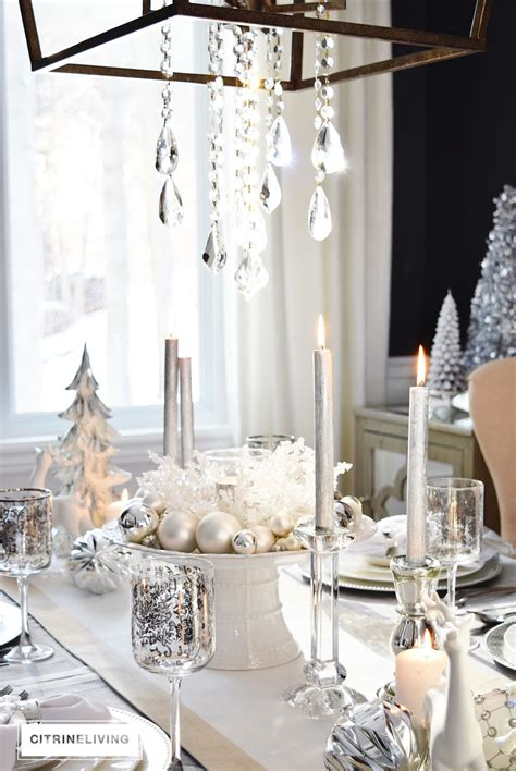 winter table a winter white and silver tablescape