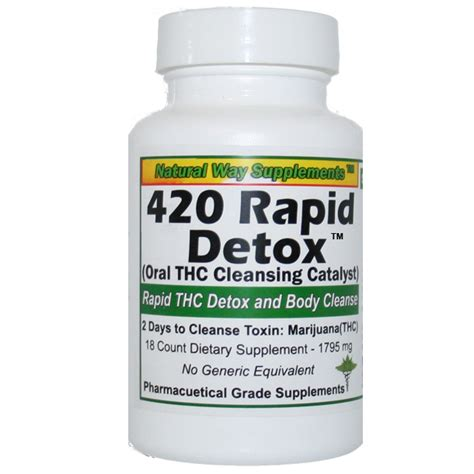 Thc Detox by Thc Detox 420 Rapid Detox 48 Hours To Cleanse Thc
