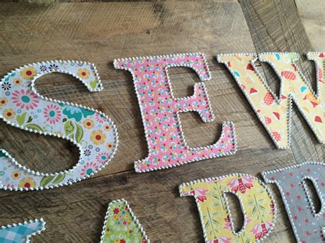 Fabric Covered Letters by Fabric Covered Letters