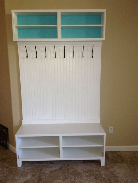 entrance bench ikea entryway storage unit made from 2 ikea besta media units