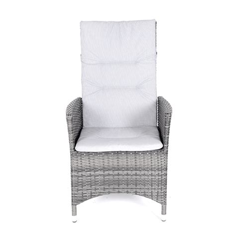 reclining arm chairs kensington club 110cm table with 4 rattan reclining dining