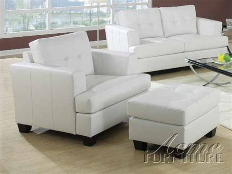 White Leather Sleeper Sofa White Leather Sleeper Sofa By Acme 15062