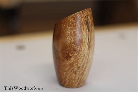 Wood Log Vases by Turning A Log Into A Vase On The Wood Lathe