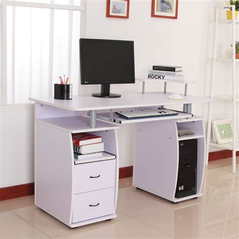 Laptop And Printer Desk Computer Desk Laptop Pc Table Desktop W Monitor Printer Shelf Drawer Home Offic Ebay