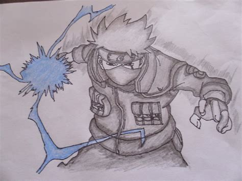 Drawing Kakashi by Drawing Kakashi Using Chidori By Mysticaldrawer On